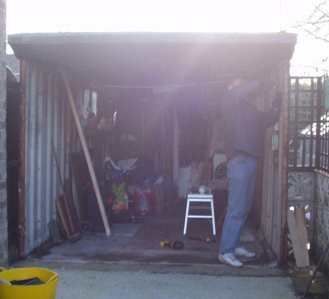 BEFORE: Garage door upgrade by Alexandra Garage Doors
