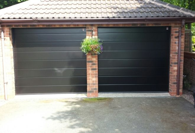 Twin Garage Doors (After)
